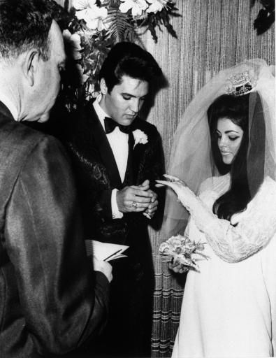 "<div class=""meta ""><span class=""caption-text "">Singer Elvis Presley and Priscilla Ann Beaulieu are shown being married in Las Vegas, Nevada, May 1, 1967 by Nevada Supreme Court Justice David Zenoff.  It was the first marriage for both Elvis and Priscilla.  (AP Photo) (AP Photo/ Anonymous)</span></div>"