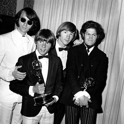 "<div class=""meta image-caption""><div class=""origin-logo origin-image ""><span></span></div><span class=""caption-text"">The Monkees pose with their Emmy award at the 19th Annual Primetime Emmy Awards in Calif. on June 4, 1967.  They won for best comedy series and best comedy direction for their television program ""The Monkees.""  The group members are, from left to right, Mike Nesmith, Davy Jones, Peter Tork, and Micky Dolenz.  (AP Photo) (AP Photo/ XNBG)</span></div>"