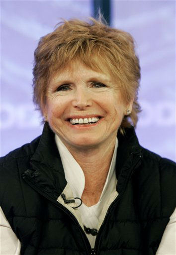 In this Feb. 26, 2008 file photo, Bonnie Franklin, of the 1970&#39;s sitcom &#34;One Day at a Time, &#34; appears with the reunited cast in New York. Franklin, the pert, redheaded actress whom millions came to identify with for her role as divorced mom Ann Romano on the long-running sitcom &#34;One Day at a Time,&#34; died Friday, March 1, 2013, at her home due to complications from pancreatic cancer, family members said. She was 69. Her family had announced she was diagnosed with cancer in September &#40;AP Photo&#47;Richard Drew, File&#41; <span class=meta>(AP Photo&#47; Richard Drew)</span>