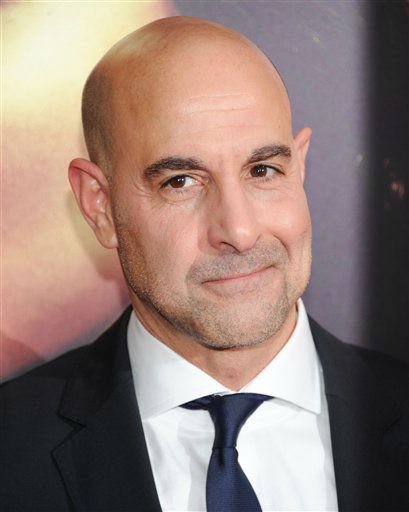 "Actor Stanley Tucci attends a special screening of ""The Hunger Games: Catching Fire"" at AMC Lincoln Square on Wednesday, Nov. 20, 2013 in New York. (Photo by Evan Agostini/Invision/AP)"