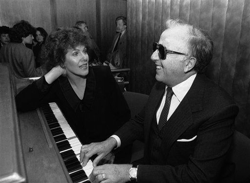 FILE - In this 1968 file photo, actress Lynn Redgrave, left, and George Shearing are shown at an Arts and Entertainment Network Party in New York.  Shearing, the ebullient jazz pianist who wrote the standard &#34;Lullaby of Birdland&#34; and had a string of hits both with and without his quintet, died Monday, Feb. 14, 2011 in Manhattan of congestive heart failure.  He was 91. &#40;AP Photo&#47;Richard Drew, file&#41; <span class=meta>(AP Photo&#47; Richard  Drew)</span>