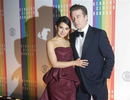 Actor Alec Baldwin and wife, Hilaria, arrive at the Kennedy Center for the Performing Arts for the 2012 Kennedy Center Honors Performance and Gala, Sunday, Dec. 2, 2012 at the State Department in Washington. &#40;AP Photo&#47;Kevin Wolf&#41; <span class=meta>(AP Photo&#47; Kevin Wolf)</span>