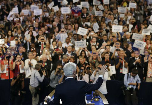 Former President Bill Clinton speaks to delegates at the Democratic National Convention in Charlotte, N.C., on Wednesday, Sept. 5, 2012. &#40;AP Photo&#47;Charlie Neibergall&#41; <span class=meta>(AP Photo&#47; Charlie Neibergall)</span>