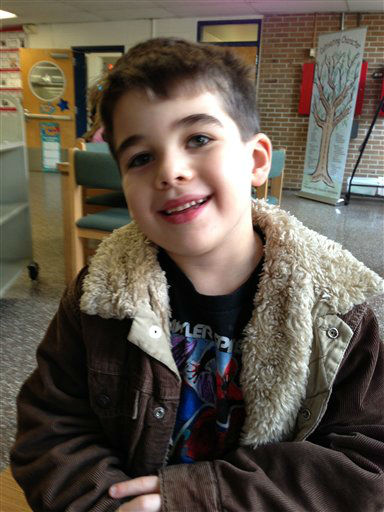 "<div class=""meta image-caption""><div class=""origin-logo origin-image ""><span></span></div><span class=""caption-text"">This Nov. 13, 2012 photo provided by the family via The Washington Post shows Noah Pozner. The six-year-old was one of the victims in the Sandy Hook elementary school shooting in Newtown, Conn. on Dec. 14, 2012. (AP Photo/Family Photo) (AP Photo/ Uncredited)</span></div>"