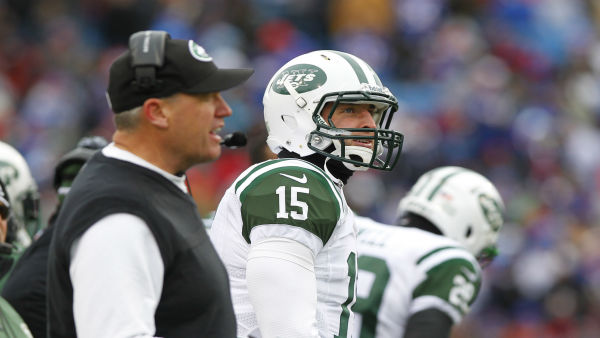 New York Jets quarterback Tim Tebow &#40;15&#41; watches from the sidelines alongside head coach Rex Ryan during the second half an NFL football game against the Buffalo Bills on Sunday, Dec. 30, 2012, in Orchard Park, N.Y. &#40;AP Photo&#47;Bill Wippert&#41; <span class=meta>(AP Photo&#47; Bill Wippert)</span>