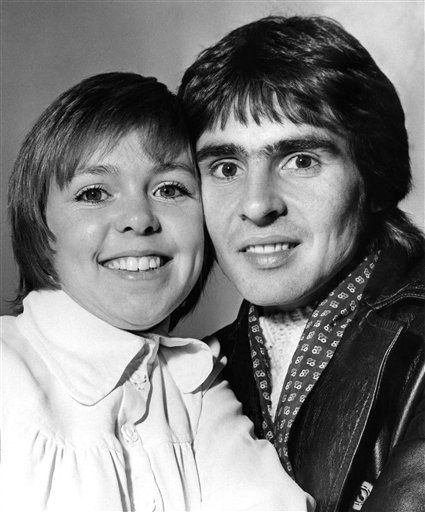 Davy Jones, lead of the former Pop group, ?The Monkees?.  With him, is his newest leading lady, Wendy Padbury, aged 24 from Stratford on Avon and Former Star of the TV series, ?Dr Who?. They are pictured in London Jan. 3, 1972 prior to rehearsals for a stage play, ?Forget me not lane?They play the parts of young lovers. &#40;AP Photo&#41; <span class=meta>(AP Photo&#47; IP PP1, SK. KEY R3, N   XCJ)</span>