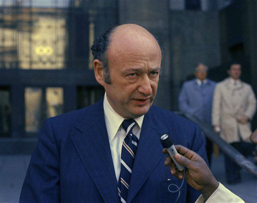 Rep. Edward Koch, a candidate for mayor of New York City on March 1, 1973. &#40;AP Photo&#47;Anthony Camerano&#41; <span class=meta>(AP Photo&#47; Anthony Camerano)</span>