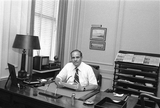 New York Times publisher Arthur Ochs Sulzberger is shown in his office in New York, July 20, 1977.   &#40;AP Photo&#47;Ray Howard&#41; <span class=meta>(AP Photo&#47; Ray Howard)</span>