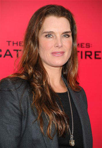 "Brooke Shields attends a special screening of ""The Hunger Games: Catching Fire"" at AMC Lincoln Square on Wednesday, Nov. 20, 2013 in New York. (Photo by Evan Agostini/Invision/AP)"