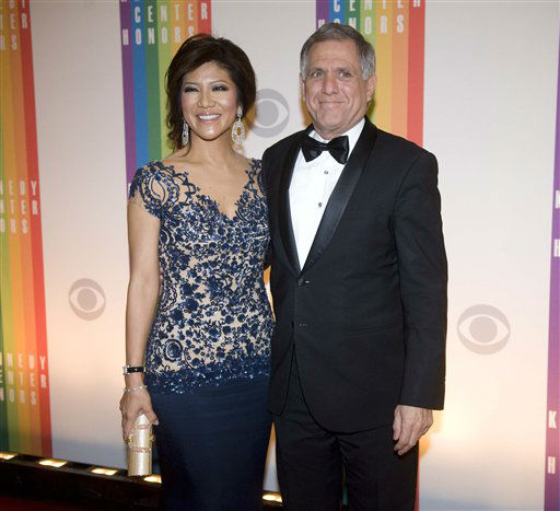 "<div class=""meta image-caption""><div class=""origin-logo origin-image ""><span></span></div><span class=""caption-text"">President and Chief Executive Officer of CBS Corporation Leslie Moonves and wife Julie Chen arrive at the Kennedy Center for the Performing Arts for the 2012 Kennedy Center Honors Performances and Gala Sunday, Dec. 2, 2012 at the State Department in Washington. (AP Photo/Kevin Wolf) (AP Photo/ Kevin Wolf)</span></div>"
