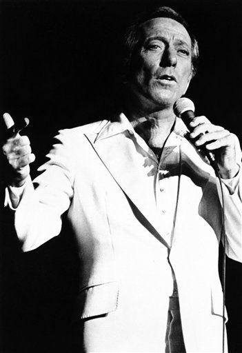 Andy Williams says, he?ll be slowing down his career. That doesn?t mean retirement, he says, but for him a change of pace ? from fast to slower. Andy is pictured during one of his recent performances, Sept. 25, 1977 at the John Ascuaga?s Nugget in Sparks, Nevada. &#40;AP Photo&#41; <span class=meta>(AP Photo&#47; Anonymous)</span>