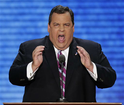 New Jersey Governor Chris Christie addresses the Republican National Convention in Tampa, Fla., on Tuesday, Aug. 28, 2012. &#40;AP Photo&#47;J. Scott Applewhite&#41; <span class=meta>(AP Photo&#47; J. Scott Applewhite)</span>