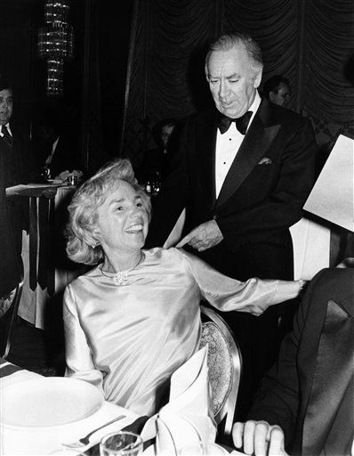 New York?s Gov. Hugh Carey pauses to greet Ethel Kennedy, foreground as he table hopped during the Police Athletic League awards dinner, Thursday, Feb. 23, 1978 in New York City. &#40;AP Photo&#41; <span class=meta>(AP Photo&#47; Anonymous)</span>