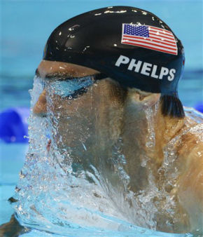United States&#39; Michael Phelps competes in the men&#39;s 400-meter individual medley swimming final at the Aquatics Centre in the Olympic Park during the 2012 Summer Olympics in London, Saturday, July 28, 2012. &#40;AP Photo&#47;Mark J. Terrill&#41; <span class=meta>(AP Photo&#47; Mark J. Terrill)</span>