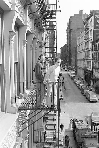 Stan and Julie Patz Stand on the 2nd-floor fire escape of the of their loft in Soho, New York City, on March 17, 1980.  Below them runs Prince Street, along which Etan, their 6-year-old son, set off to school on May 25, 1979.  Etan has not been seen since.  His disappearance has led to exhaustive investigations, which still continue, involving the police and countless friends and strangers.  &#40;AP Photo&#47;Marty Reichenthal&#41; <span class=meta>(AP Photo&#47; MARTY REICHENTHAL)</span>