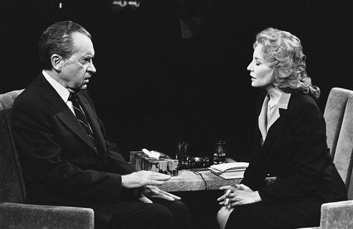 "<div class=""meta ""><span class=""caption-text "">Former President Richard M. Nixon answers question Thursday during interview by ABC television personality Barbara Walters on May 8, 1980 in New York. (AP Photo/Ray Stubblebine) (AP Photo/ Ray Stubblebine)</span></div>"
