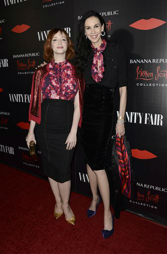 Actress Christina Hendricks, left, and fashion designer L&#39;Wren Scott arrive at the Banana Republic L&#39;Wren Scott Collection launch party at the Chateau Marmont on Tuesday, Nov. 19, 2013 in West Hollywood, Calif. &#40;Photo by Dan Steinberg&#47;Invision&#47;AP&#41; <span class=meta>(Photo&#47;Dan Steinberg)</span>