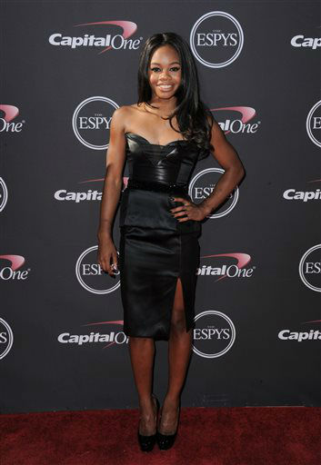 "<div class=""meta image-caption""><div class=""origin-logo origin-image ""><span></span></div><span class=""caption-text"">Gymnast Gabby Douglas arrives at the ESPY Awards on Wednesday, July 17, 2013, at Nokia Theater in Los Angeles. (Photo by Jordan Strauss/Invision/AP) (Photo/Jordan Strauss)</span></div>"