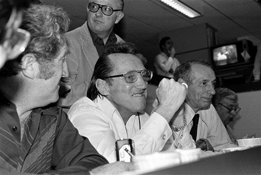 FILE - In this Jan. 25, 1981 file photo, Oakland Raiders managing general partner Al Davis, center, grins broadly as the Raiders moved toward a win in the Super Bowl in New Orleans. The Oakland Raiders announce Saturday, Oct. 8, 2011, that longtime owner and Hall of Famer Davis has died. He was 82. It is not immediately clear when and where he died. &#40;AP Photo, File&#41; <span class=meta>(AP Photo&#47; XJFM SBH**NY**)</span>