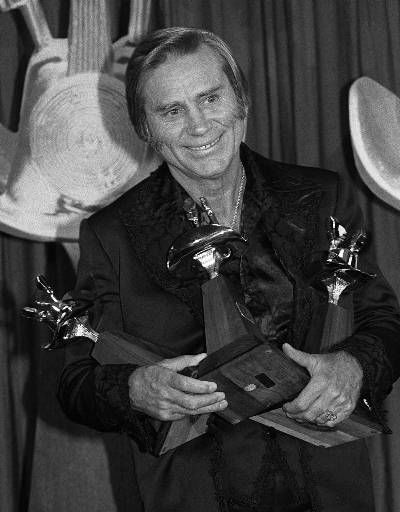 Long time country star George Jones receives three awards during the 16th Annual Country Music Awards in this May 1, 1981 photo from Los Angeles.&#40;AP Photo&#41; <span class=meta>(AP Photo&#47; XJM AL)</span>