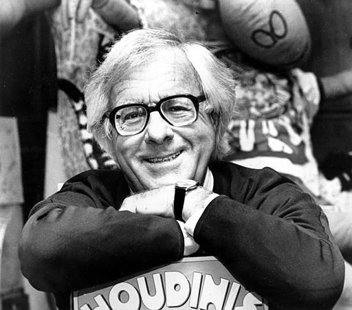 Science fiction writer Ray Bradbury smiles in his Beverly Hills, Ca., office in Feb. 1982.  Bradbury died on Tuesday, June 5, 2012 at his home in California.  He was 91. &#40;AP Photo&#47;Lennox McLendon&#41; <span class=meta>(AP Photo&#47; LENNOX MCLENDON)</span>