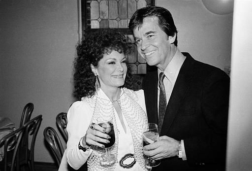Dick Clark, right, and Connie Francis are shown at a party in New York, March 1, 1982.  Clark, who first catapulted Connie Francis to stardom in 1957 on his American Bandstand show, gave the party to celebrate Francis&#39; appearance at Avery Fisher Hall, her first appearance in New York City in 15 years.  &#40;AP Photo&#47;Mary Bloom&#41; <span class=meta>(AP Photo&#47; MARY BLOOM)</span>