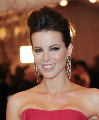 "Actress Kate Beckinsale attends The Metropolitan Museum of Art Costume Institute gala benefit, ""Punk: Chaos to Couture"", on Monday, May 6, 2013 in New York. (Photo by Evan Agostini/Invision/AP)"