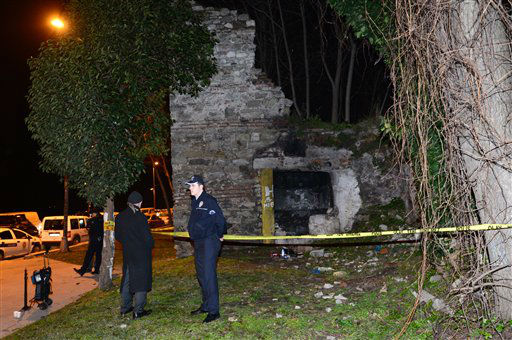 Police forensics search for missing New York City woman Sarai Sierra near the remnants of some ancient city walls in low-income district of Sarayburnu in Istanbul, Turkey, late Saturday, Feb. 2, 2013. Turkey&#39;s state-run news agency said that she has been found dead in Istanbul and police have detained nine people in connection with the case. Sierra, a 33-year-old mother of two, went missing while vacationing alone in Istanbul. Her body was discovered late Saturday amid the city walls.&#40;AP Photo&#41; <span class=meta>(AP Photo&#47; Uncredited)</span>