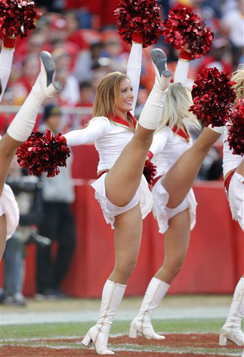 "<div class=""meta image-caption""><div class=""origin-logo origin-image ""><span></span></div><span class=""caption-text"">Kansas City Chiefs cheerleaders perform during an NFL football game against the Carolina Panthers Sunday, Dec. 2, 2012 in Kansas City, MO. (AP Photo/Ed Zurga) (AP Photo/ Ed Zurga)</span></div>"