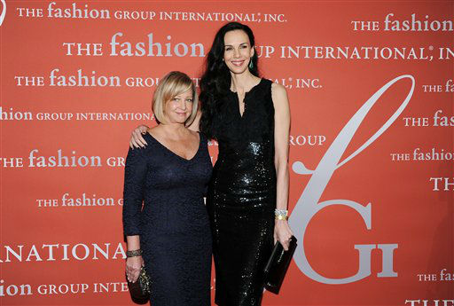Honoree L&#39;Wren Scott poses with Bonnie Brooks at the 29th Annual &#34;Night Of Stars&#34; presented by The Fashion Group International at Cipriani Wall Street on Thursday Oct. 25, 2012 in New York. &#40;Photo by Evan Agostini&#47;Invision&#47;AP&#41; <span class=meta>(Photo&#47;Evan Agostini)</span>