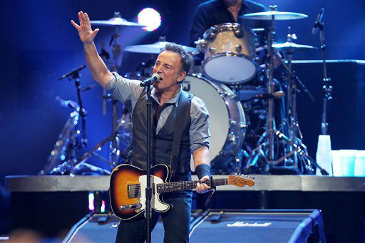 "<div class=""meta ""><span class=""caption-text "">This image released by Starpix shows Bruce Springsteen performing at the 12-12-12 The Concert for Sandy Relief at Madison Square Garden in New York on Wednesday, Dec. 12, 2012. (AP Photo/Starpix, Dave Allocca) (AP Photo/ Dave Allocca)</span></div>"