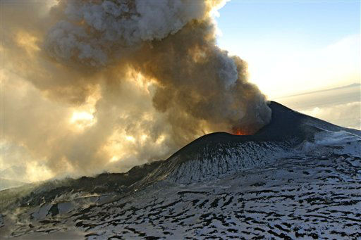 "<div class=""meta ""><span class=""caption-text "">In this photo taken on Sunday, Jan. 6, 2013, Plosky Tolbachnik volcano erupts in Russia?s Far Eastern Kamchatka Peninsula. A Russian volcano which started erupting last week has continued to spew ash and smoke into the air. The Plosky Tolbachik volcano, in the Kamchatka Peninsula, last erupted in 1976. (AP Photo/Alexander Petrov) (AP Photo/ Alexander Petrov)</span></div>"