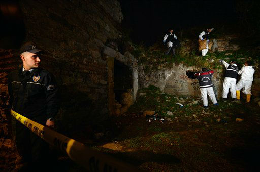 "<div class=""meta image-caption""><div class=""origin-logo origin-image ""><span></span></div><span class=""caption-text"">Police forensics search for missing New York City woman Sarai Sierra near the remnants of some ancient city walls in low-income district of Sarayburnu in Istanbul, Turkey, late Saturday, Feb. 2, 2013. Turkey's state-run news agency said that she has been found dead in Istanbul and police have detained nine people in connection with the case. Sierra, a 33-year-old mother of two, went missing while vacationing alone in Istanbul. Her body was discovered late Saturday amid the city walls.(AP Photo) (AP Photo/ Uncredited)</span></div>"