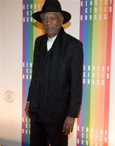 Former Kennedy Center Honoree Actor Morgan Freeman walks off the red carpet after arriving at the Kennedy Center for the Performing Arts for the 2012 Kennedy Center Honors Performance and Gala Sunday, Dec. 2, 2012 at the State Department in Washington. &#40;AP Photo&#47;Kevin Wolf&#41; <span class=meta>(AP Photo&#47; Kevin Wolf)</span>