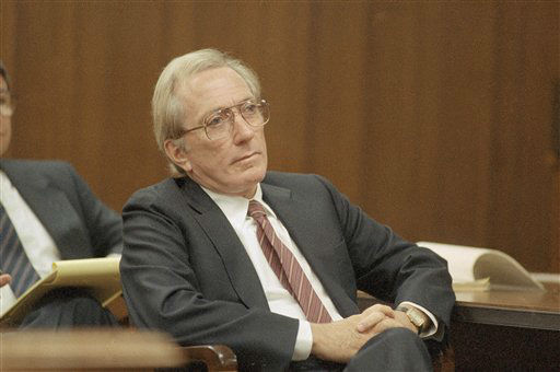 Singer Andy Williams in court, Friday, Oct. 24, 1986 in Redlands, California, where he is on trial for drunken driving. Williams testified he wasn?t drunk while driving from Palm Springs to Los Angeles although he was drinking a beer in his Rolls-Royce when arrested. &#40;AP Photo&#47;Bob Galbraith&#41; <span class=meta>(AP Photo&#47; XJFM)</span>