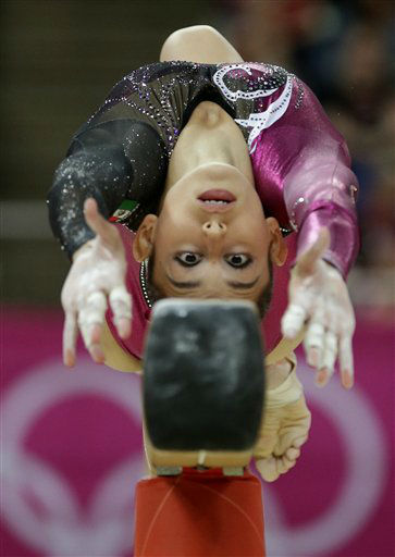 "<div class=""meta image-caption""><div class=""origin-logo origin-image ""><span></span></div><span class=""caption-text"">Mexican gymnast Elsa Garcia Rodriguez Blancas performs on the balance beam during the Artistic Gymnastics women's qualification at the 2012 Summer Olympics, Sunday, July 29, 2012, in London. (AP Photo/Gregory Bull)</span></div>"