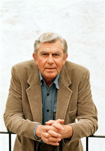 Actor Andy Griffith shown in Toluca Lake, Calif in March 6, 1987 during an interview for an APN story. (AP Photo/Doug Pizac)