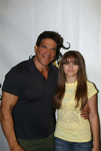 Lou Ferrigno and Paris Jackson pose for a photograph at Stan Lee's Comikaze Expo on Sunday, Sept. 16, 2012 in Los Angeles. (Photo by Tom Hinckley/Studio 1501 Inc./Stan Lee's Comikaze Expo/AP Images)