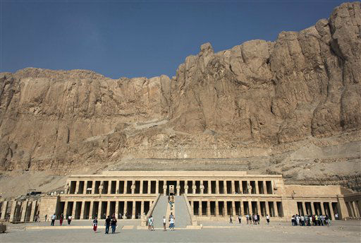 "<div class=""meta ""><span class=""caption-text "">Foreign tourists visit Hatshepsut Temple, in Luxor, Egypt, Wednesday, Feb. 27, 2013. Nineteen people were killed Tuesday in what appeared to be the deadliest hot air ballooning accident on record. The tragedy raised worries of another blow to the nation's vital tourism industry, decimated by two years of unrest since the 2011 revolution that toppled autocrat Hosni Mubarak. The southern city of Luxor has been hit hard, with vacant hotel rooms and empty cruise ships.(AP Photo/Nasser Nasser)</span></div>"