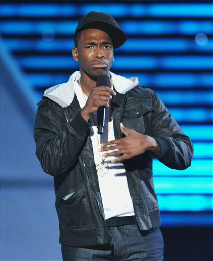 "<div class=""meta ""><span class=""caption-text "">Jay Pharoah speaks on stage at the ESPY Awards on Wednesday, July 17, 2013, at the Nokia Theater in Los Angeles. (Photo by John Shearer/Invision/AP) (Photo/John Shearer)</span></div>"