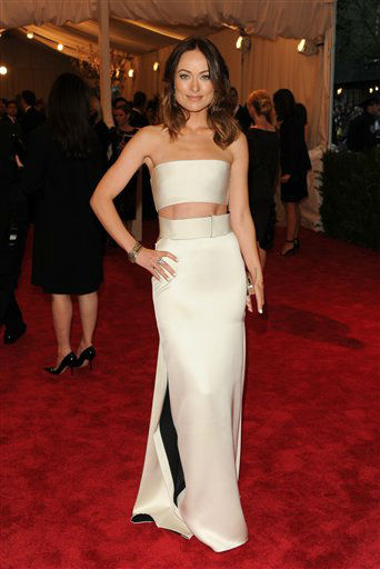 "<div class=""meta image-caption""><div class=""origin-logo origin-image ""><span></span></div><span class=""caption-text"">Actress Olivia Wilde attends The Metropolitan Museum of Art  Costume Institute gala benefit, ""Punk: Chaos to Couture"", on Monday, May 6, 2013 in New York. (Photo by Evan Agostini/Invision/AP) (Photo/Evan Agostini)</span></div>"