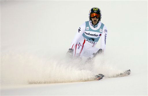 "<div class=""meta ""><span class=""caption-text "">Austria's Kathrin Zettel reacts in the finish arena after winning the women's World Cup slalom ski race in Aspen, Colo., Sunday, Nov. 25, 2012. (AP Photo/Nathan Bilow) (AP Photo/ Nathan Bilow)</span></div>"