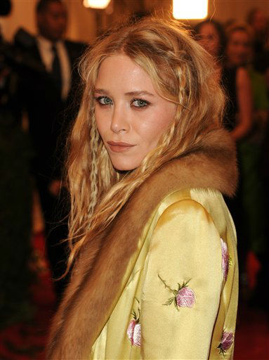 "Mary-Kate Olsen attends The Metropolitan Museum of Art Costume Institute gala benefit, ""Punk: Chaos to Couture"", on Monday, May 6, 2013 in New York. (Photo by Evan Agostini/Invision/AP)"