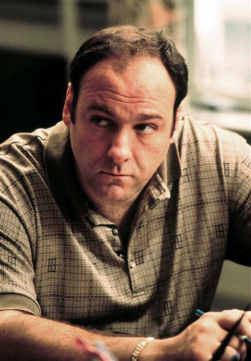 "<div class=""meta image-caption""><div class=""origin-logo origin-image ""><span></span></div><span class=""caption-text"">FILE - This 1999 file photo released by HBO shows actor James Gandolfini as Tony Soprano in the critically acclaimed HBO series ""The Sopranos."" HBO and the managers for Gandolfini say the actor died Wednesday, June 19, 2013, in Italy. He was 51. (AP Photo/HBO, Anthony Nesta, file) (AP Photo/ ANTHONY NESTA)</span></div>"