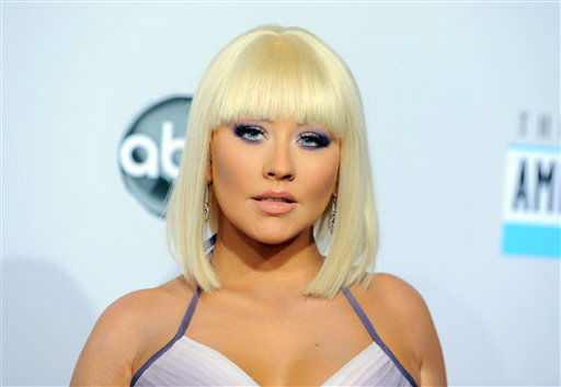 "<div class=""meta ""><span class=""caption-text "">Christina Aguilera arrives at the 40th Anniversary American Music Awards on Sunday, Nov. 18, 2012, in Los Angeles. (Photo by Jordan Strauss/Invision/AP) (AP Photo)</span></div>"
