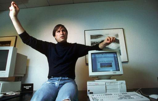 "<div class=""meta ""><span class=""caption-text "">Personal computer pioneer Steve Jobs, is shown in this 1993 photo. (AP Photo/Kristy Macdonald) (AP Photo/ KRISTY MACDONALD)</span></div>"