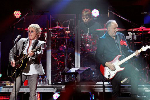 This image released by Starpix shows Roger Daltrey, left, and Pete Townshend of The Who performing at the 12-12-12 The Concert for Sandy Relief at Madison Square Garden in New York on Wednesday, Dec. 12, 2012. Proceeds from the show will be distributed through the Robin Hood Foundation. &#40;AP Photo&#47;Starpix, Dave Allocca&#41; <span class=meta>(AP Photo&#47; Dave Allocca)</span>