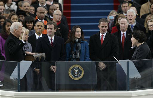 "<div class=""meta ""><span class=""caption-text "">Vice President Joe Biden is sworn by Associate Justice Sonia Sotomayor at the ceremonial swearing-in at the U.S. Capitol during the 57th Presidential Inauguration in Washington, Monday, Jan. 21, 2013. (AP Photo/Pablo Martinez Monsivais) (AP Photo/ Pablo Martinez Monsivais)</span></div>"