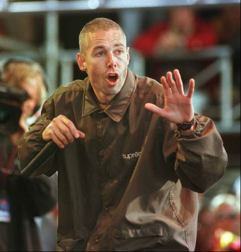 "<div class=""meta image-caption""><div class=""origin-logo origin-image ""><span></span></div><span class=""caption-text"">Tibetan Freedom Concert co-organizer and Beastie Boy member Adam Yauch tears through a number during the Beastie Boys set Saturday, July 15, 1996, at the Polo Fields in San Francisco's Golden Gate Park.  The two-day festival featuring over 20 bands is being held to raise money for the Milarepa fund, a San Francisco-based nonprofit that is dedicated to raising awareness  of the plight of Tibet. (AP Photo/Sam Morris) (AP Photo/ SAM MORRIS)</span></div>"