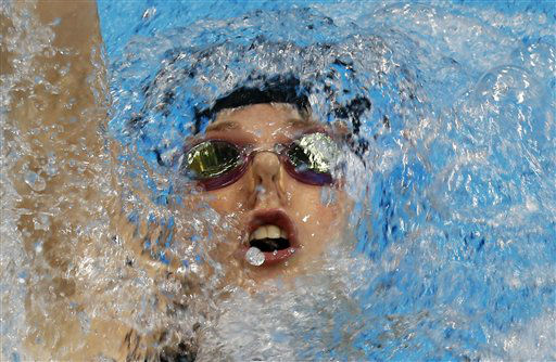 "<div class=""meta ""><span class=""caption-text "">FILE - In this Friday, Aug. 3, 2012 file photo, United States' Missy Franklin competes in the women's 200-meter backstroke final at the Aquatics Centre in the Olympic Park during the 2012 Summer Olympics in London. Franklin won the gold. (AP Photo/Julio Cortez, File) (AP Photo/ Julio Cortez)</span></div>"